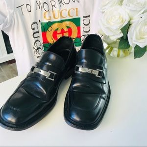 Men's Gucci Loafers Black Size 8D